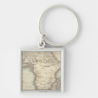 Africa 33 Silver-Colored square key ring