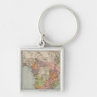 Africa 35 Silver-Colored square key ring