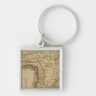 Africa 41 Silver-Colored square key ring