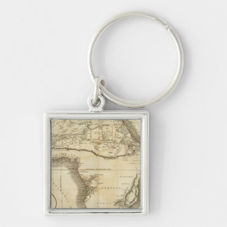 Africa 42 Silver-Colored square key ring