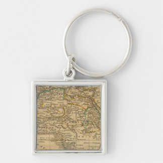 Africa 45 Silver-Colored square key ring