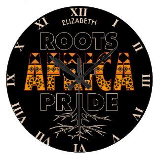 Africa African Black Pride Roots Of Pride Proud Large Clock