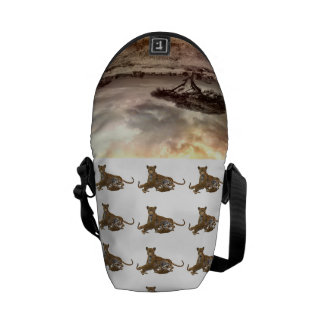 Africa African Cheetah Mother Destiny Destiny's Courier Bags
