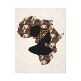 Africa and Woman With Head Wrap   Home Wall Decor