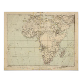 Africa Atlas Map showing colonies Poster