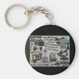 Africa, be christian! keychain
