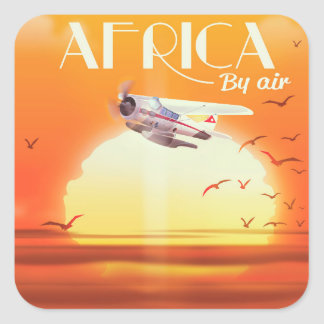 Africa By Air Square Sticker