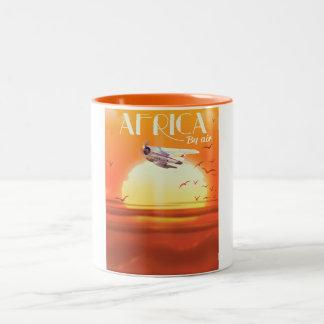 Africa By Air Two-Tone Coffee Mug