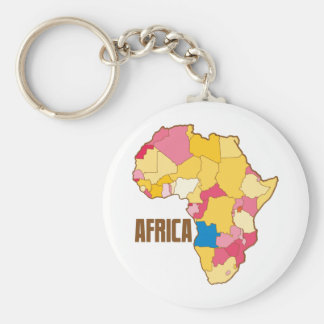 AFRICA colour map nation Key Chain