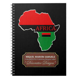 Africa country outline Flag Colors Modern Notebook