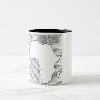 Africa Cut-Out Coffee Mugs