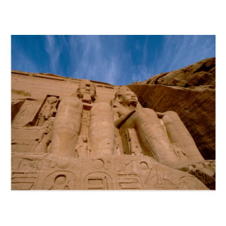 Africa, Egypt, Abu Simbel, Ramses II and Postcard