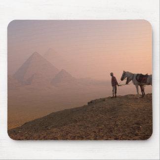Africa, Egypt, Cairo, Giza, Giza pyramids at Mousepads