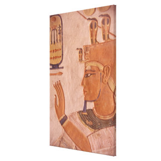 Africa, Egypt, Valley of the Kings. Tomb wall Stretched Canvas Print