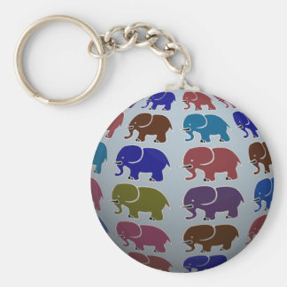 africa elephant ball basic round button key ring