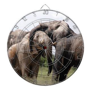 Africa Elephant Family Dartboard
