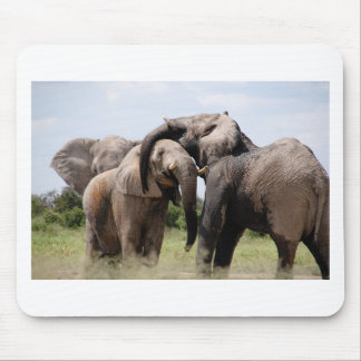 Africa Elephant Family Mouse Pad
