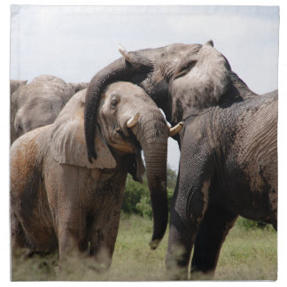 Africa Elephant Family Napkin