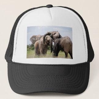Africa Elephant Family Trucker Hat