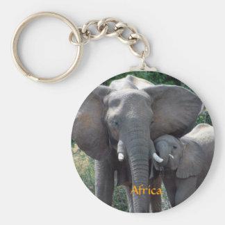 Africa Elephants Keychain