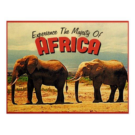Africa Elephants Vintage Travel Postcards