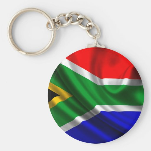 Africa flag key chains