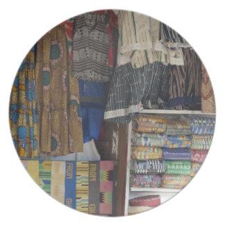 Africa, Ghana, Accra. Accra Textile & Handicraft Dinner Plates