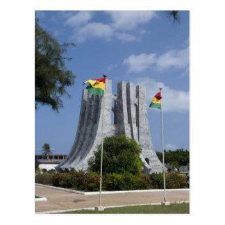 Africa, Ghana, Accra. Nkrumah Mausoleum, final 3 Postcard