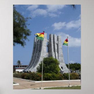 Africa, Ghana, Accra. Nkrumah Mausoleum, final 3 Poster