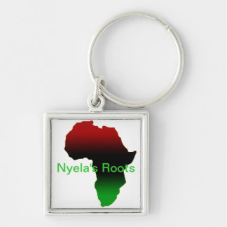 Africa Gifts Silver-Colored Square Key Ring