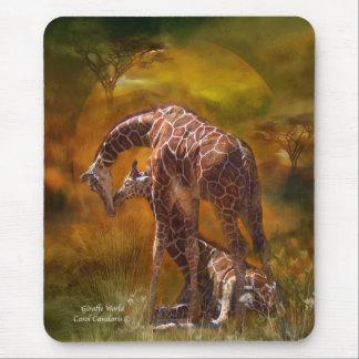 Africa - Giraffe World Art Mousepad