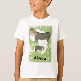 Africa Hippopotamus Hippo Jungle T-shirts