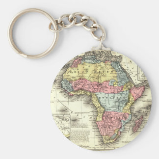 Africa in 1867 basic round button key ring