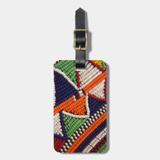 Africa, Kenya. Maasai Tribal Beads Luggage Tag