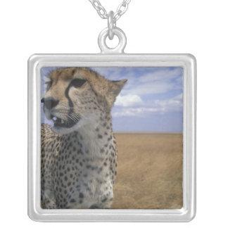Africa, Kenya, Masai Mara Game Reserve, Adult Square Pendant Necklace