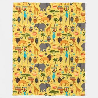 Africa Large Fleece Blanket