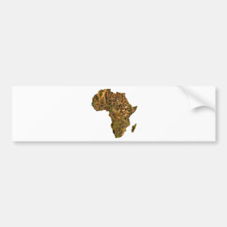 Africa Leopard Bumper Sticker