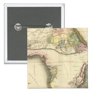 Africa map 15 cm square badge