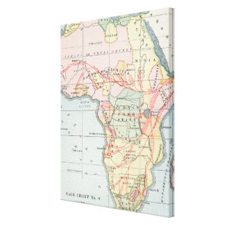 AFRICA: MAP, 1894 CANVAS PRINT
