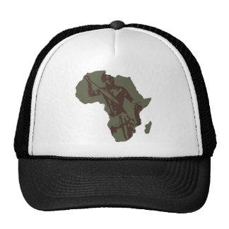 Africa Map African Warrior Artwork Cap