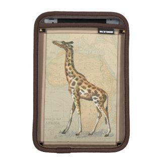 Africa Map and a Giraffe Sleeve For iPad Mini