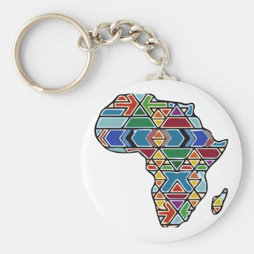Africa map key chain