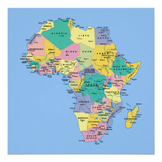 Africa Map Poster