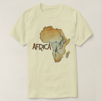 Africa map  Tshirt No 17