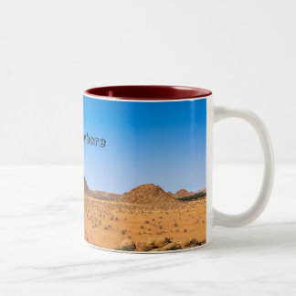 Africa Motif Two-Tone Coffee Mug