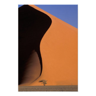 Africa, Namibia, Evening light on dunes, Poster
