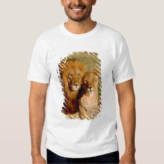 Africa, Namibia, Okonjima. Lion & lioness Shirt