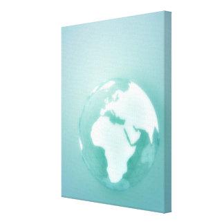 Africa on Globe Canvas Print