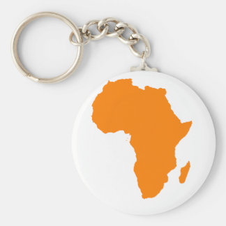 Africa Orange Basic Round Button Key Ring