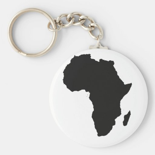 Africa Outline Keychains